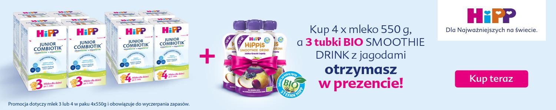 Banner: Mleko HiPP + 3 Tubki Gratis!