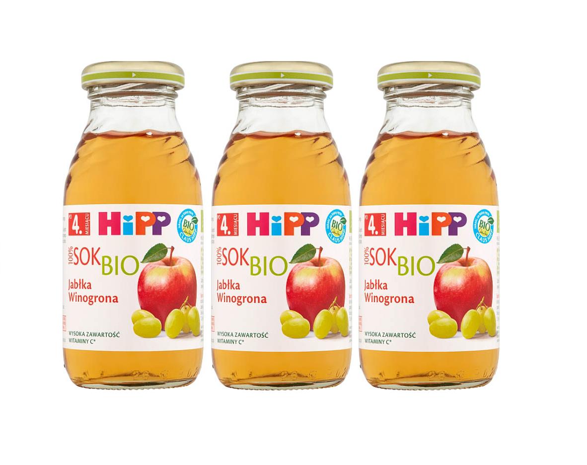 3 pack hipp 200ml sok jablko winogrona