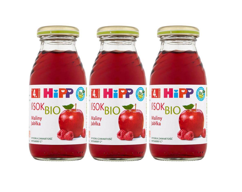 3 pack hipp 200ml sok malina jablka