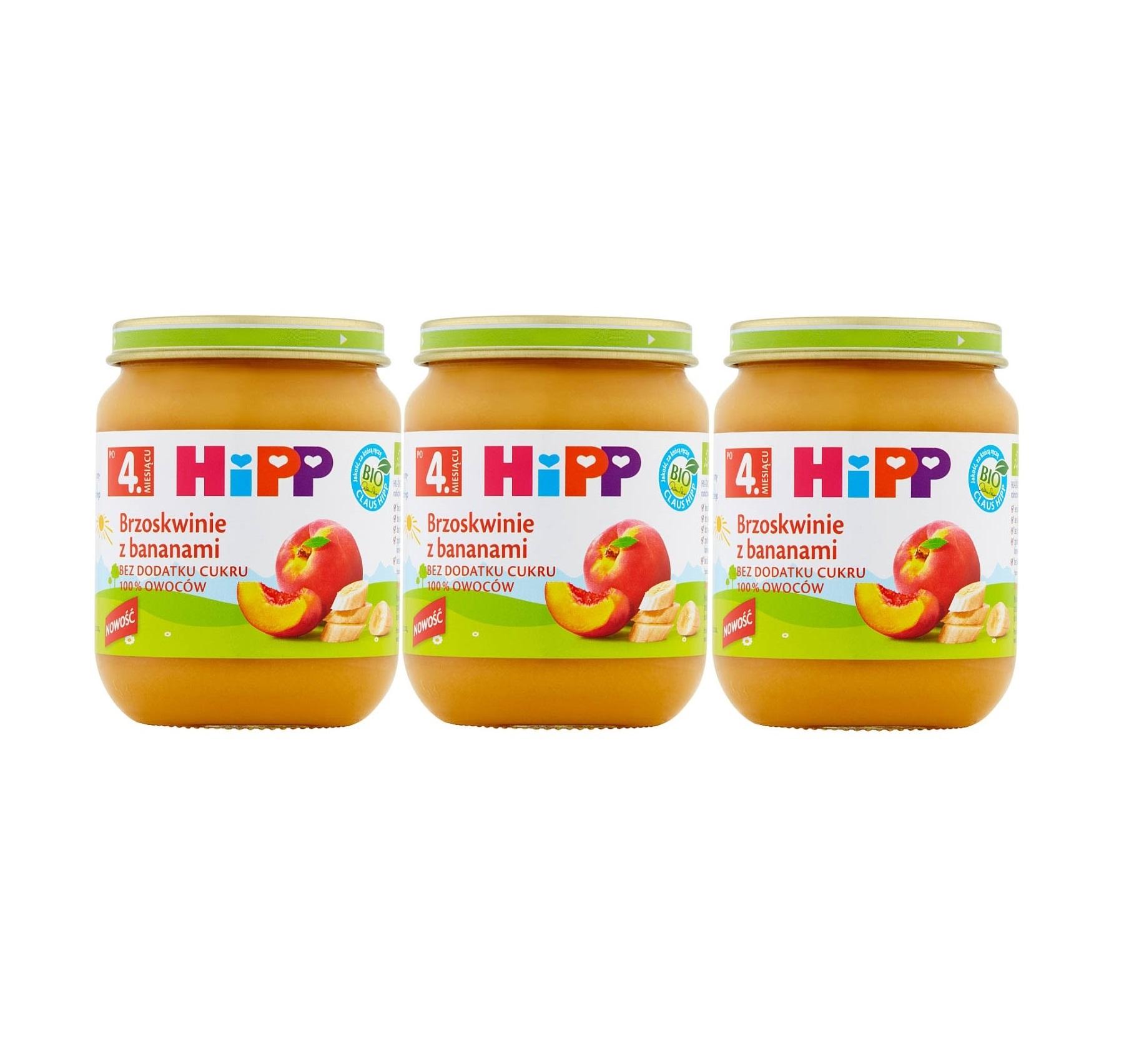 3 pak hipp 125 brzoskwinie z bananami