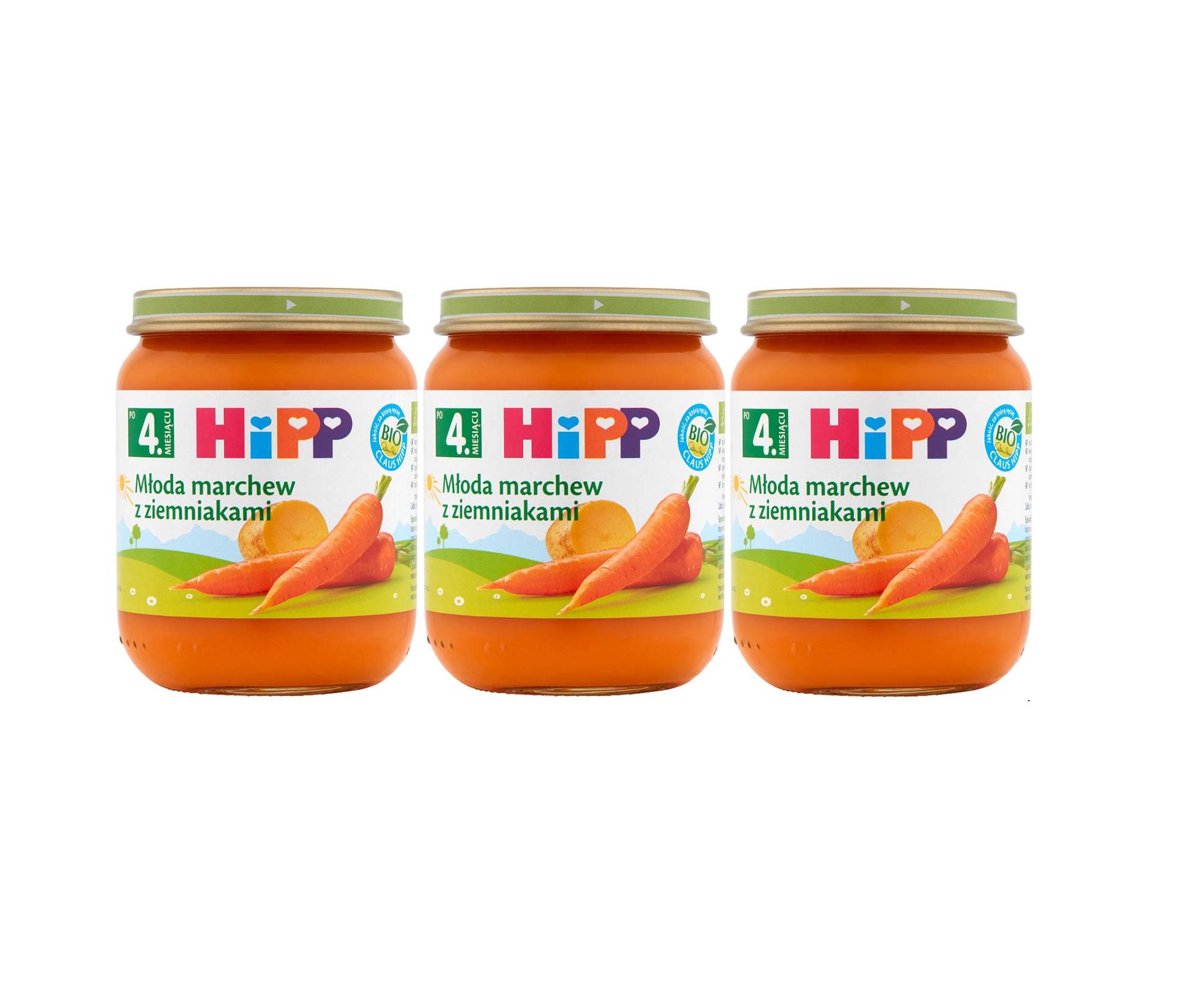 3 pak hipp 125 mloda marchewka z ziemniakami