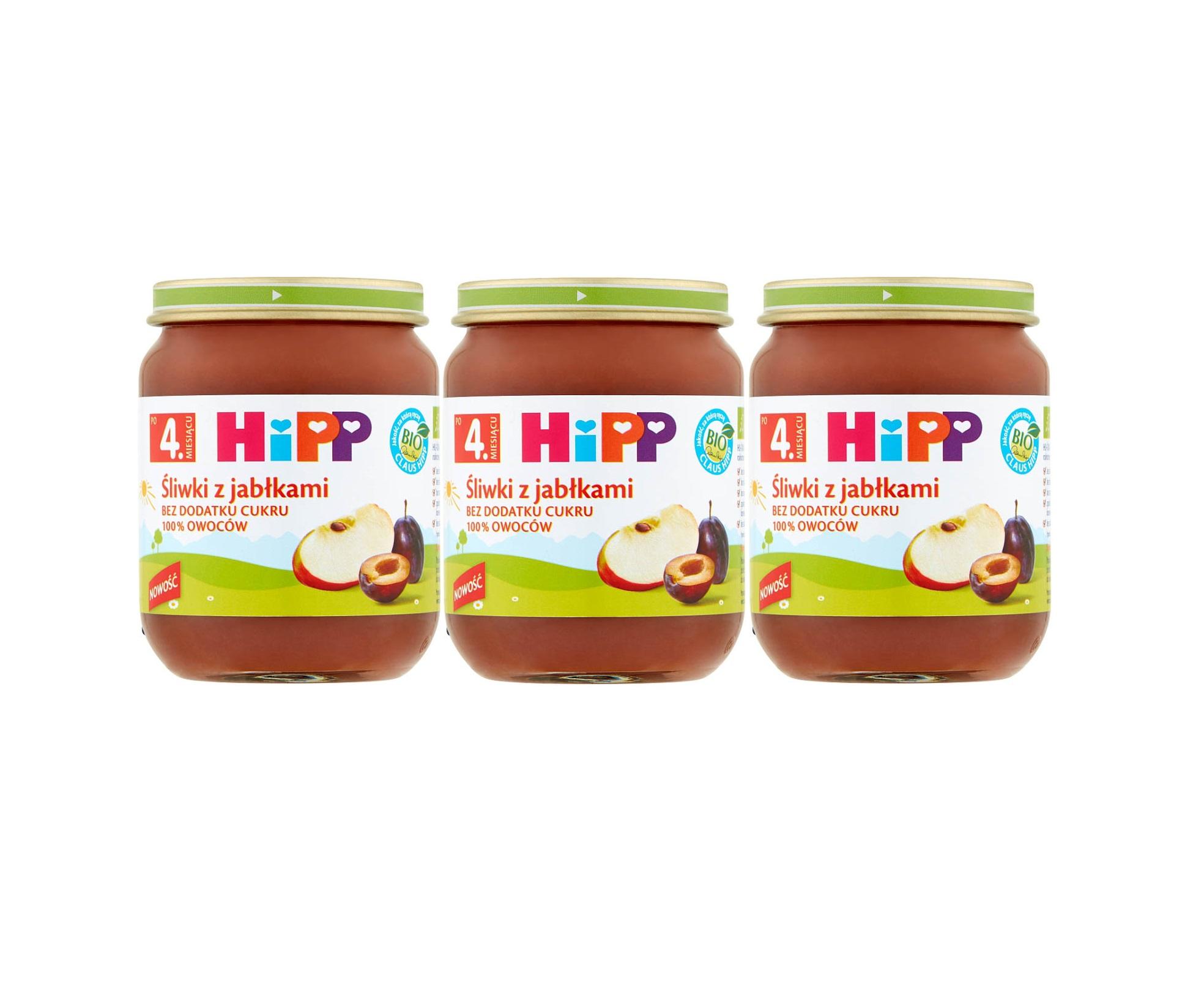 3 pak hipp 125 sliwki z jablkami