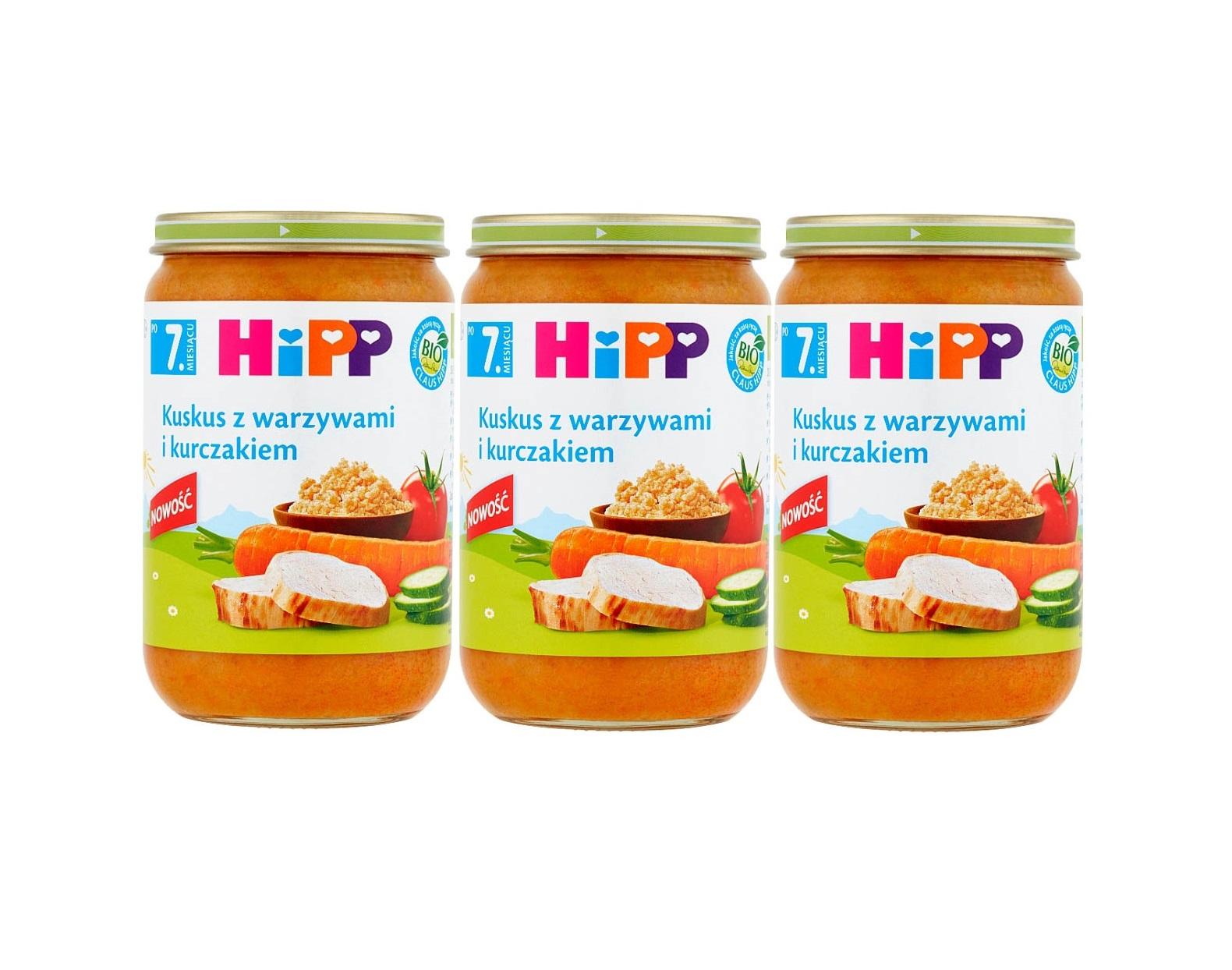 3 pak hipp 220 kuskus z warzywai i kurczakiem