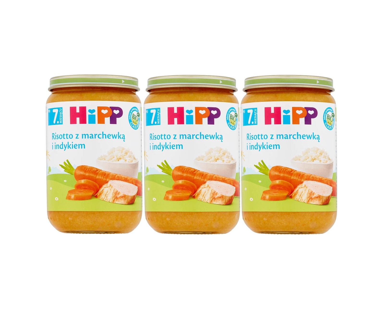 3 pak hipp 220 risotto z marchewka i indykiem