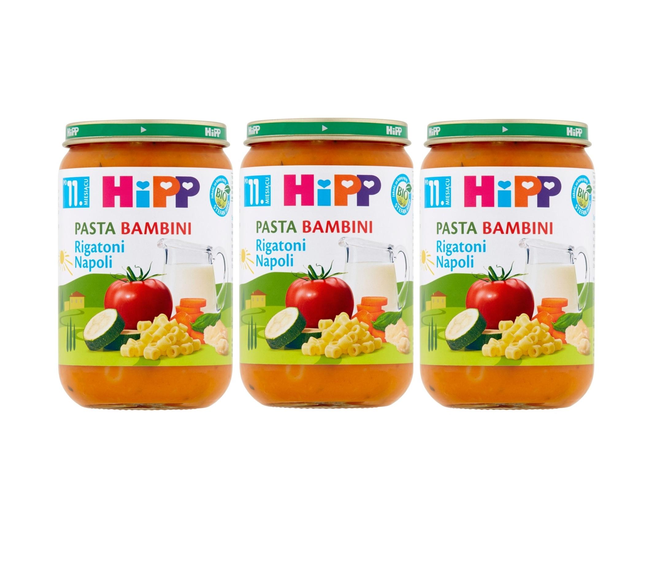 3 pak hipp pasta bambini rigatoni napoli 3×220