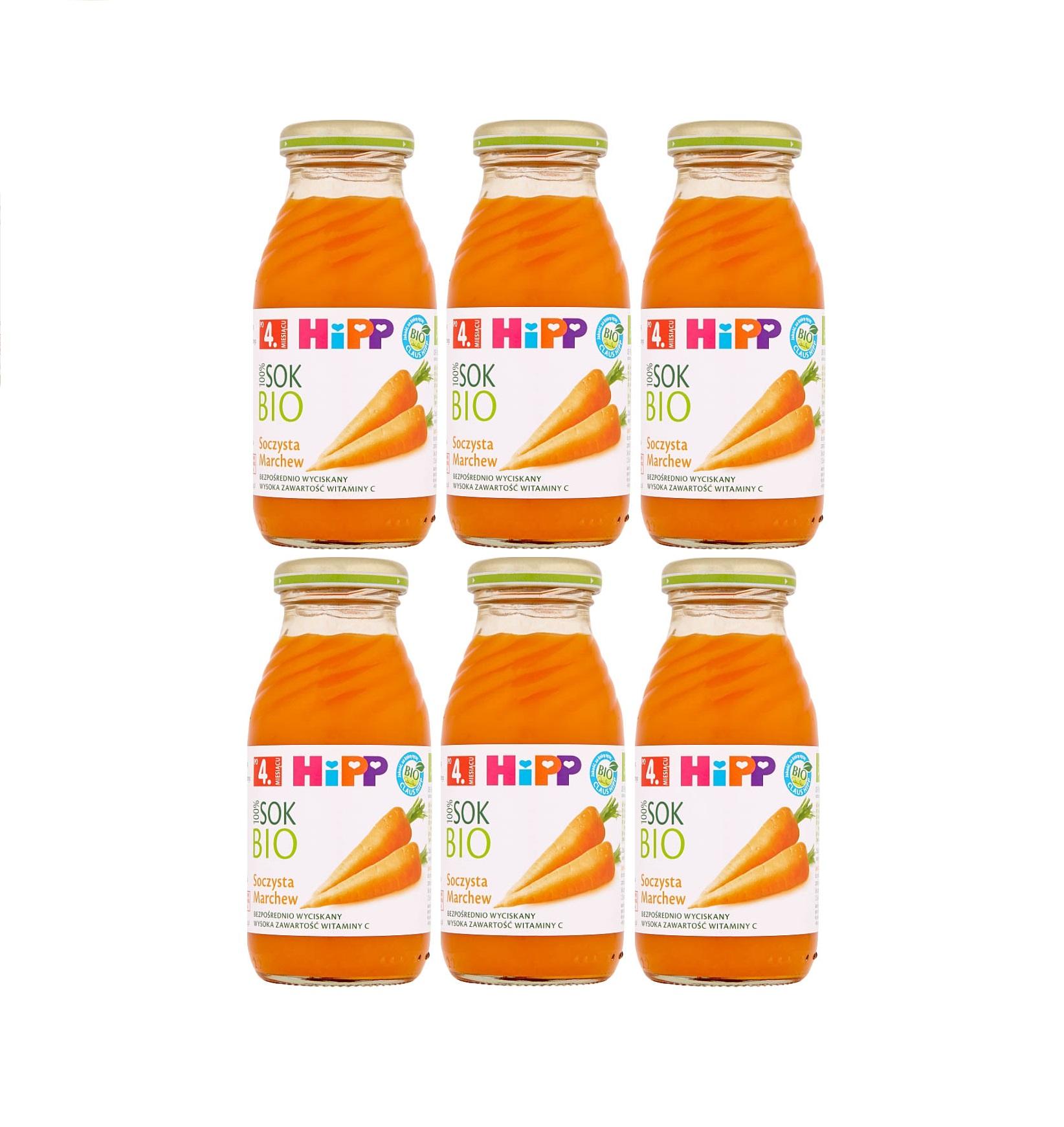 6 pack hipp 200ml sok soczysta marchewka