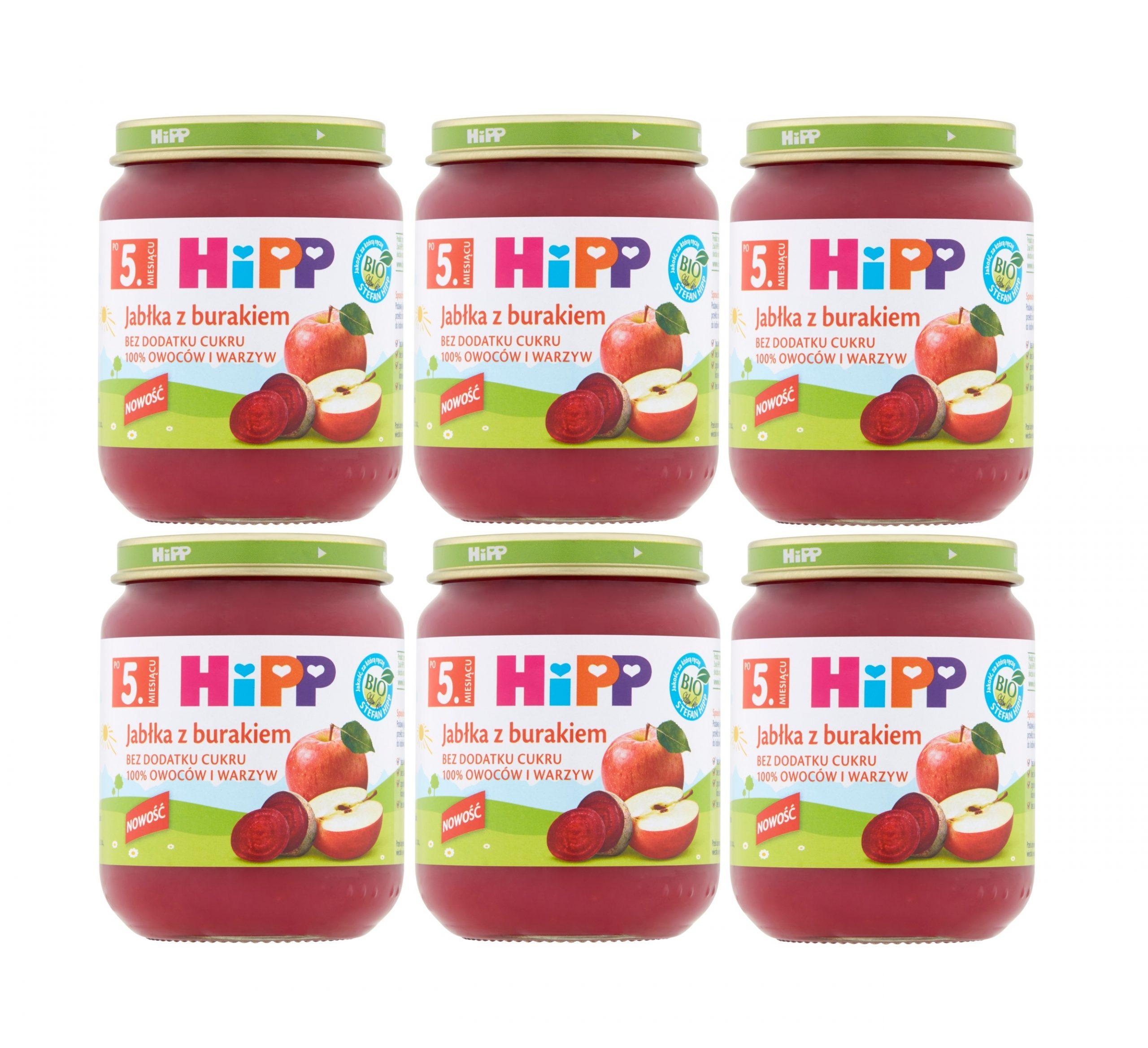 6 pak hipp 125 jabłka z burakiem