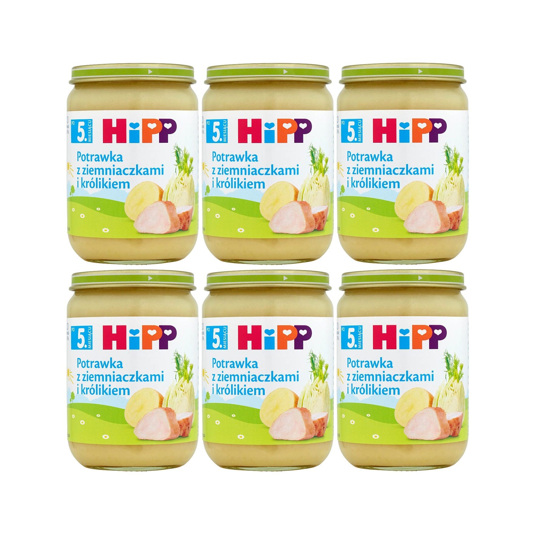 6 pak hipp 190 potrawka z ziemniakami i krolikiem