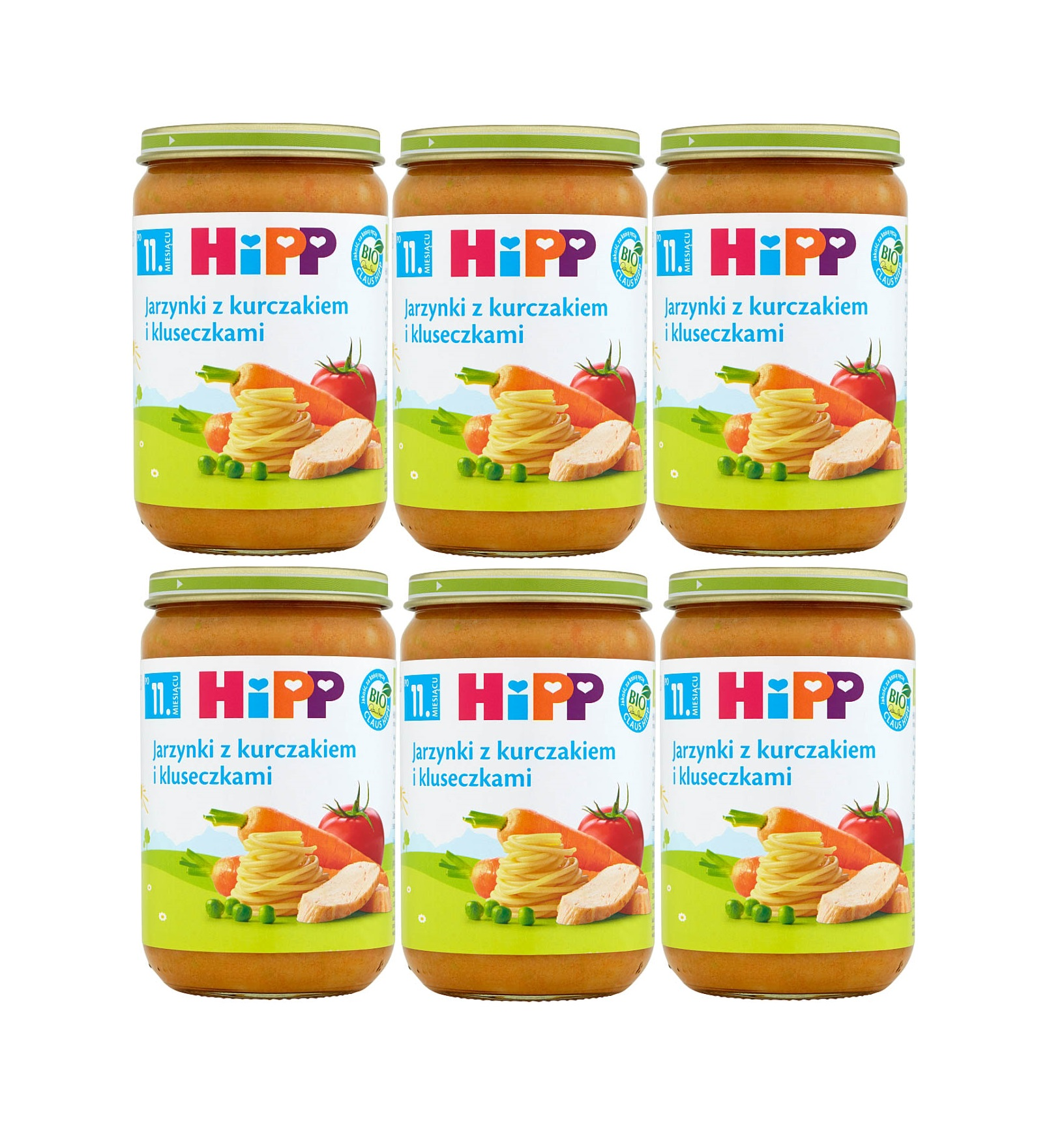 6 pak hipp 220 jarzynki z kurczakiem i kluseczkami