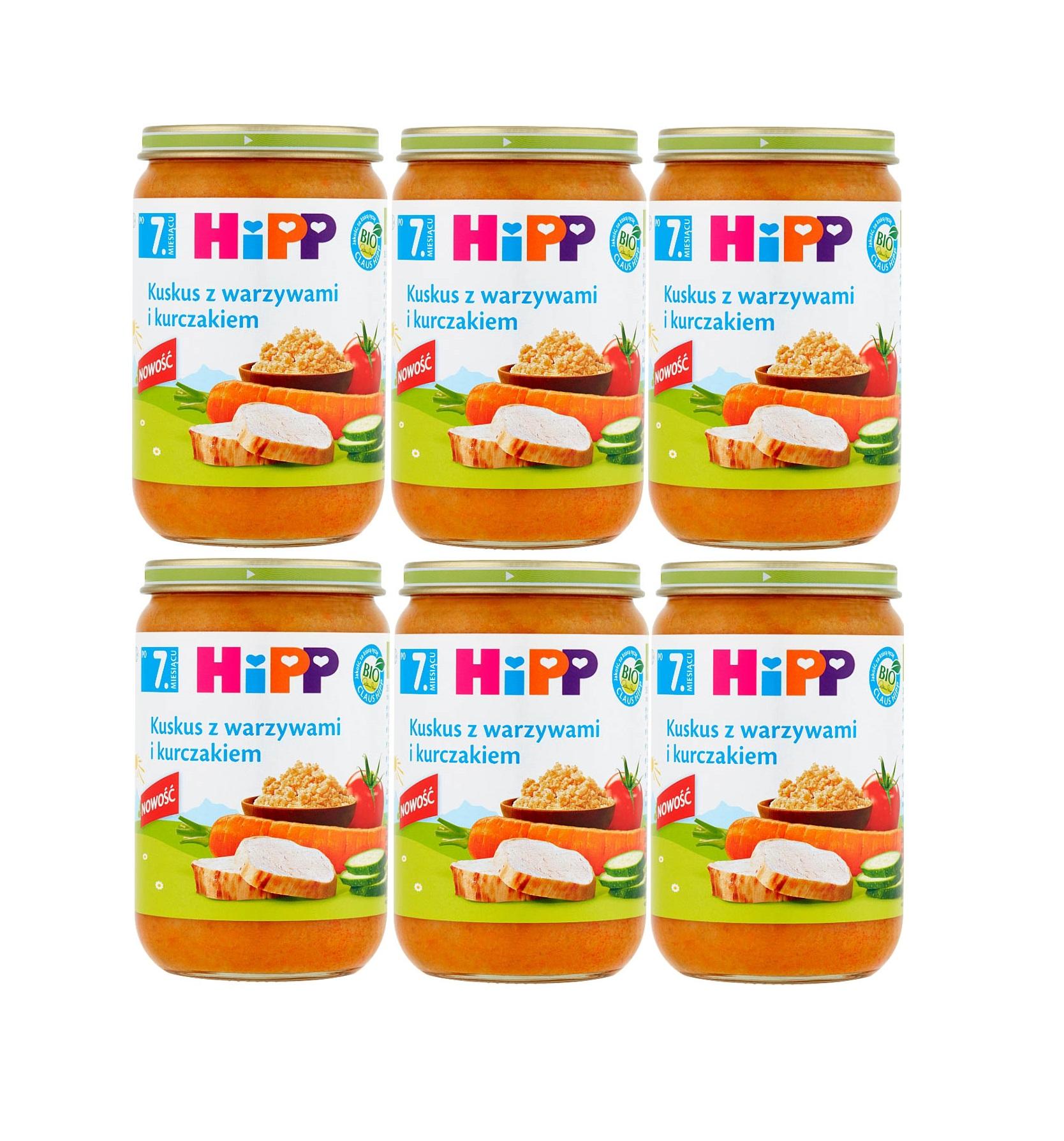 6 pak hipp 220 kuskus z warzywai i kurczakiem