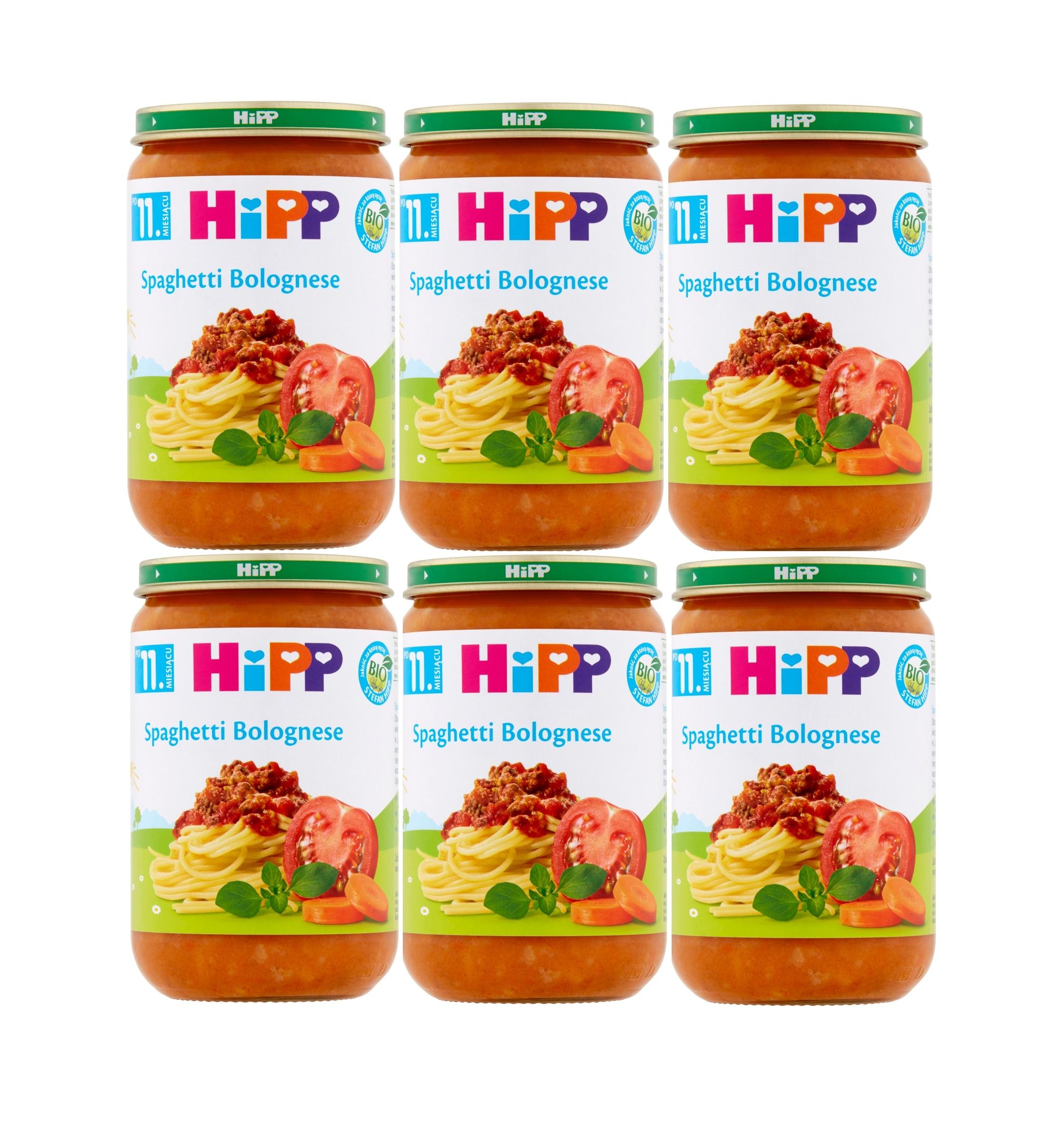 6 pak hipp 220 spaghetti bologenese