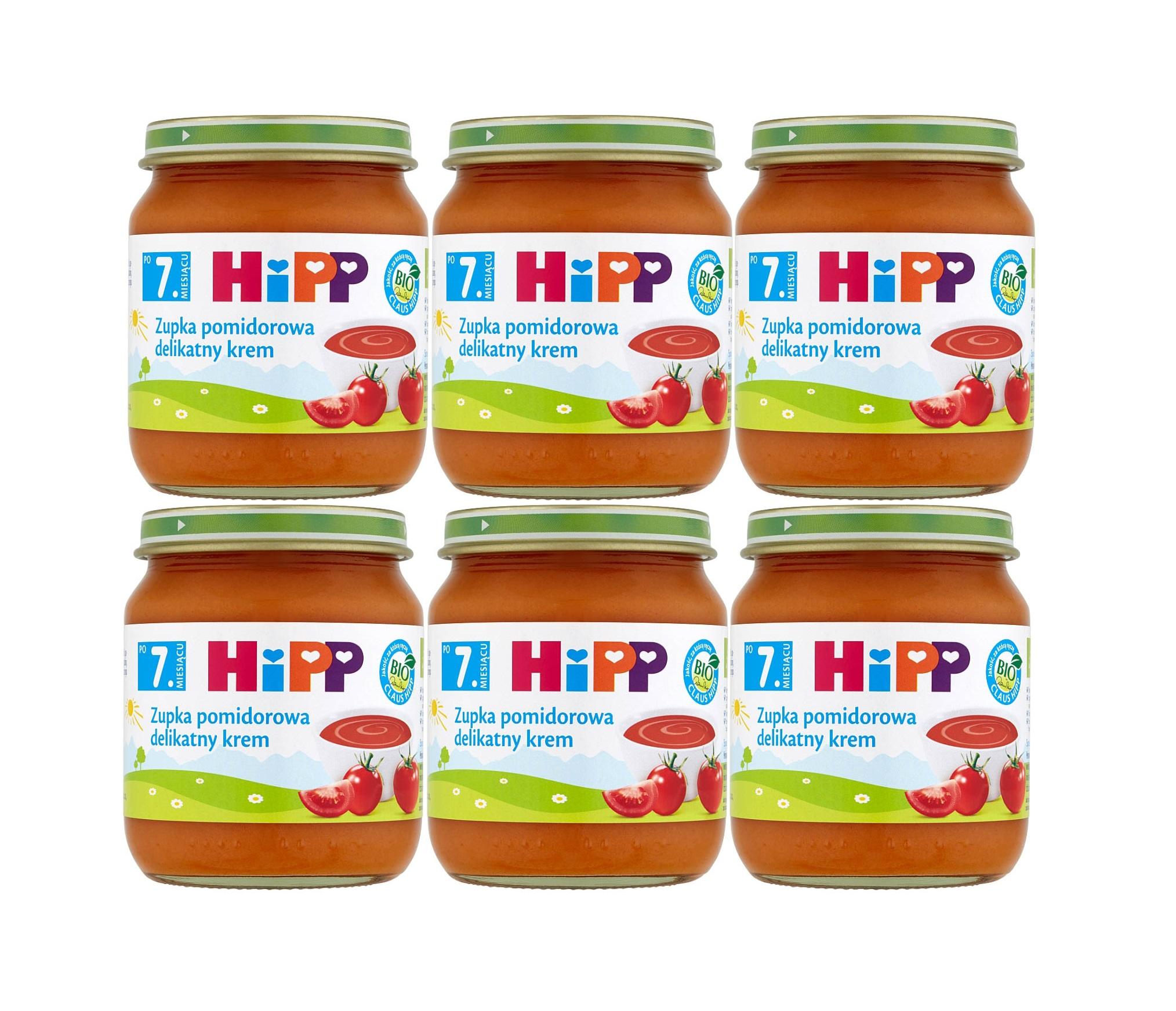 6 pak hipp 250 zupka pomidorowa delitakny krem