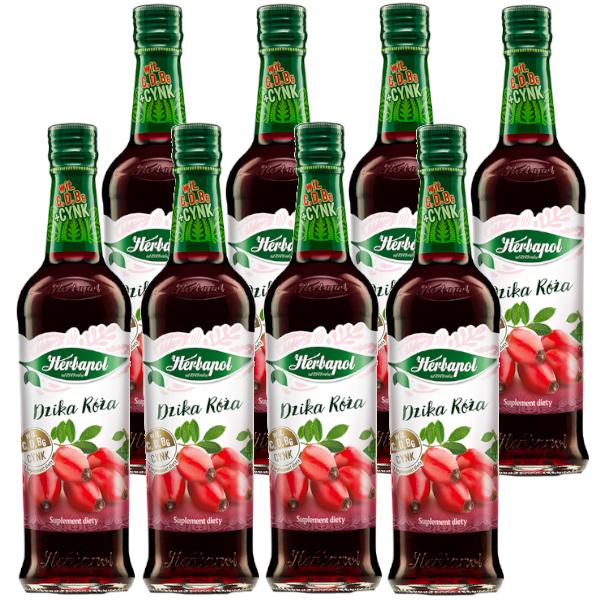 8 pak dz.roza syrop herbapol