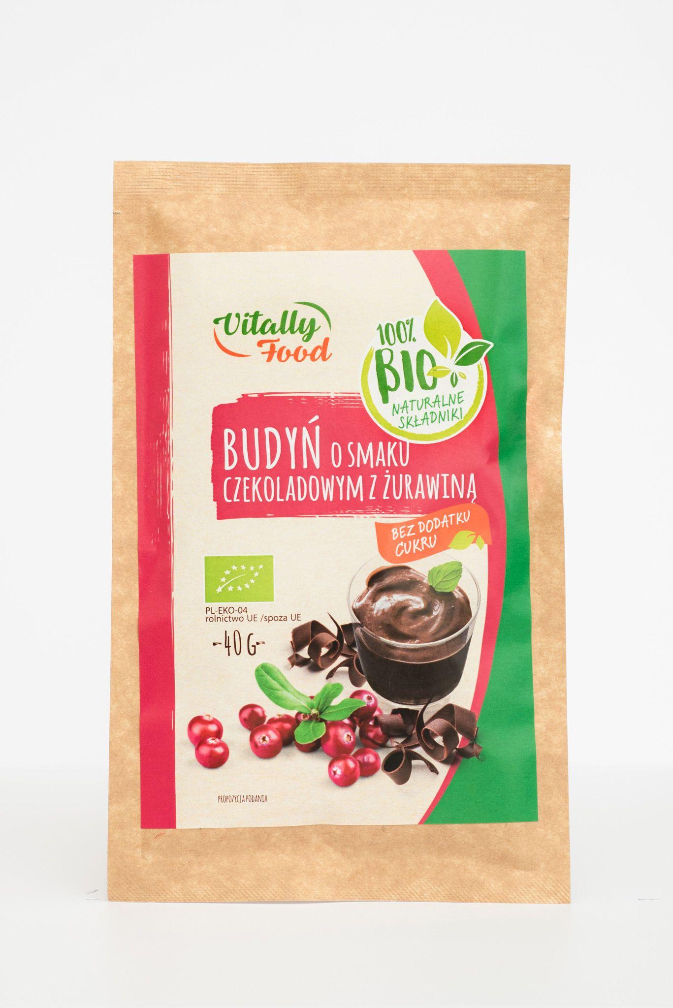 BIO Budń smak czekolada z żurawiną 40g Vitally Food
