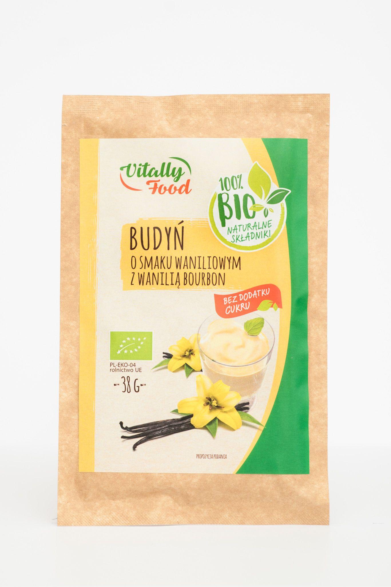 BIO Budyń smak wanilia z wanilią Bourbon 38g Vitally Food