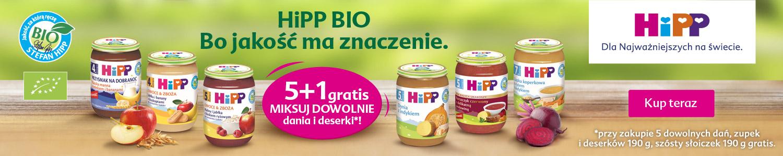 Banner: Słoiki HiPP 190g Szósty Gratis