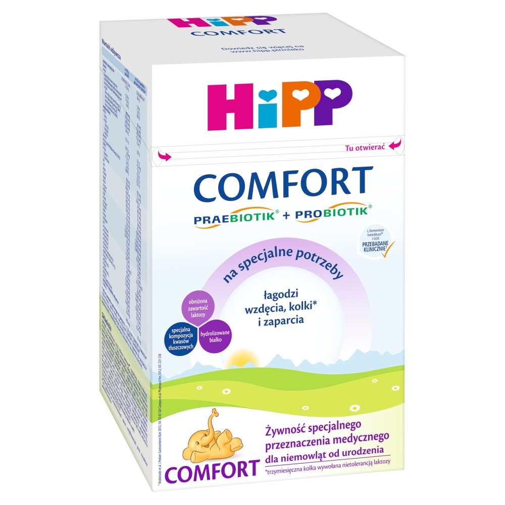 HiPP Comfort Żywność specjalnego przeznaczenia medycznego dla niemowląt od urodzenia 600 g
