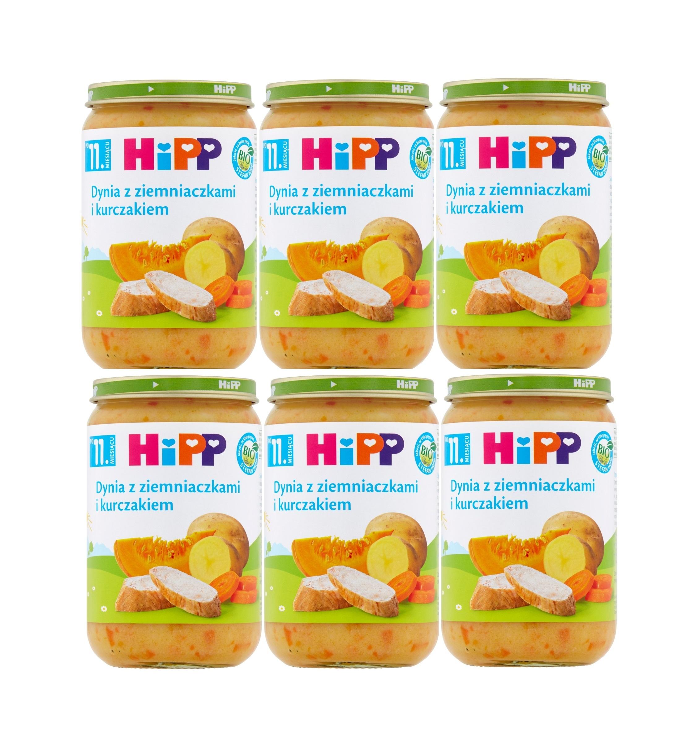 Hipp dynia z ziemniakami i kurczakiem 6x220g