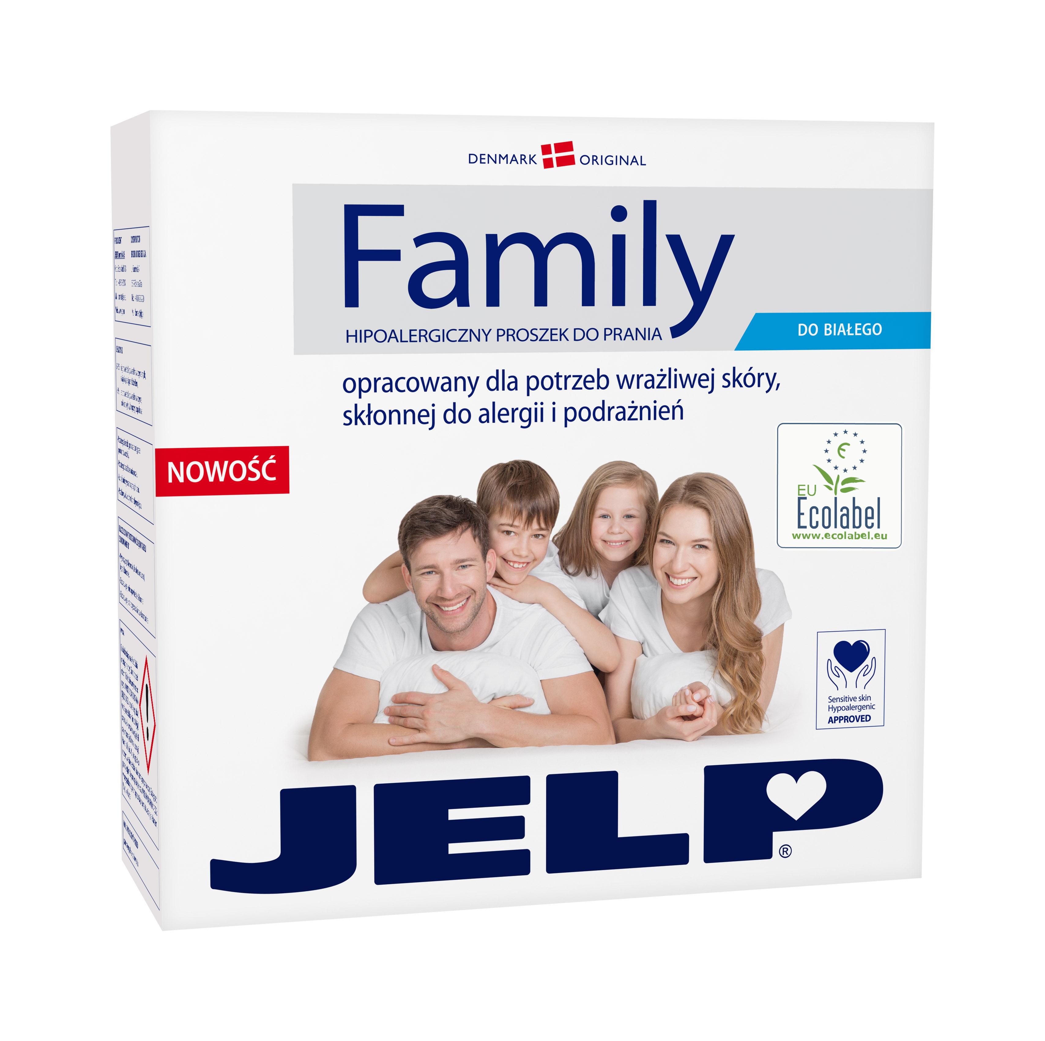 JELP FAMILY hipoalergiczny proszek do bieli 2,24kh