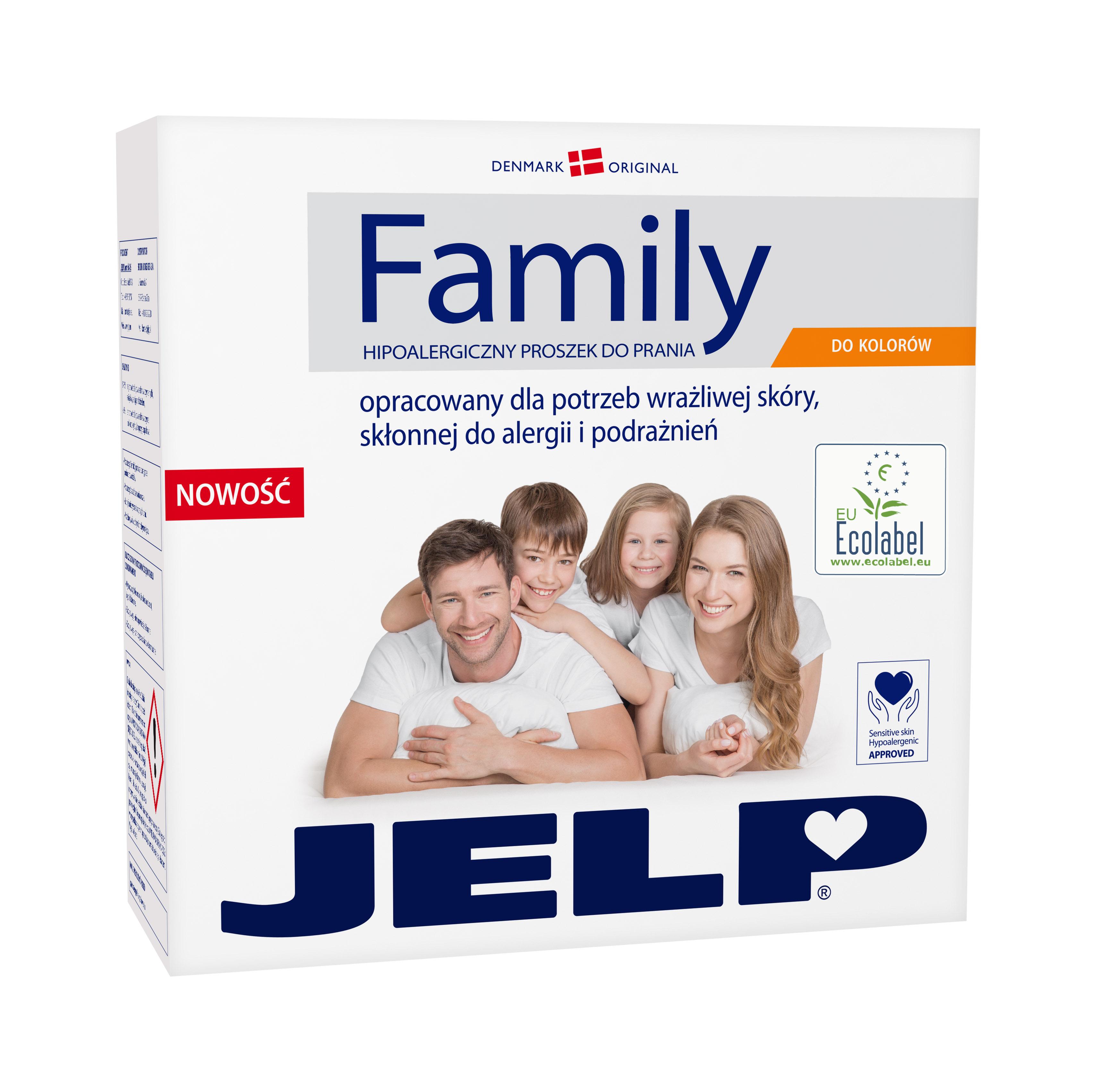 JELP FAMILY hipoalergiczny proszek do koloru 2,24kg