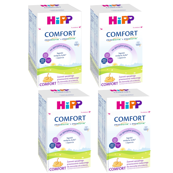 Mleko początkowe HIPP 1 COMFORT COMBIOTIK 4x600g