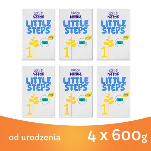 NESTLE LITTLE STEPS 1 MLEKO POCZĄTKOWE DLA NIEMOWLĄT OD URODZENIA 6 x 600G_1