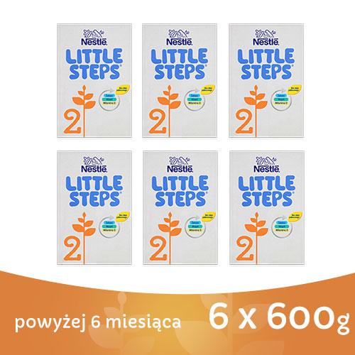 NESTLE LITTLE STEPS 2 MLEKO NASTĘPNE DLA NIEMOWLĄT PO 6 MIESIĄCU 6 x 600G_1