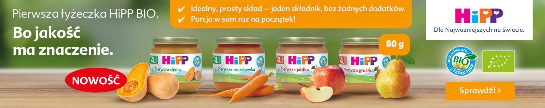 Banner: HiPP Pierwsza Łyżeczka Nowość!