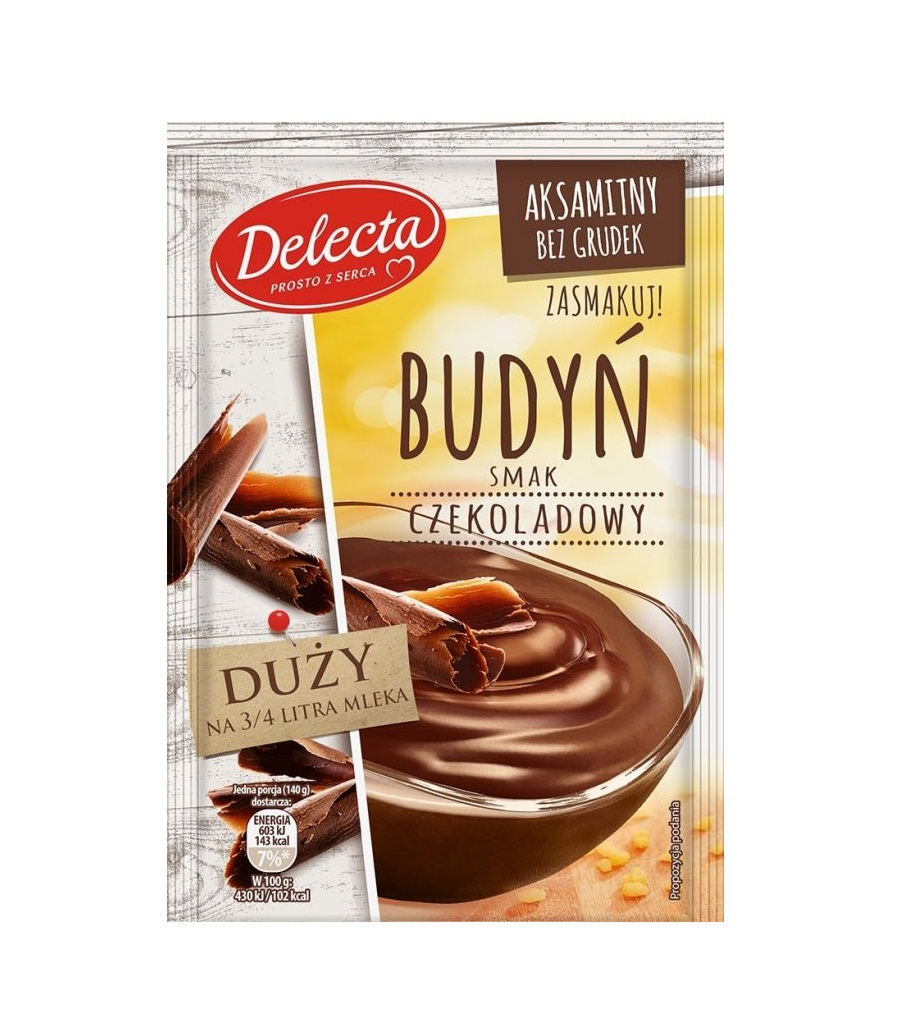 budyń czekoladowy delecta