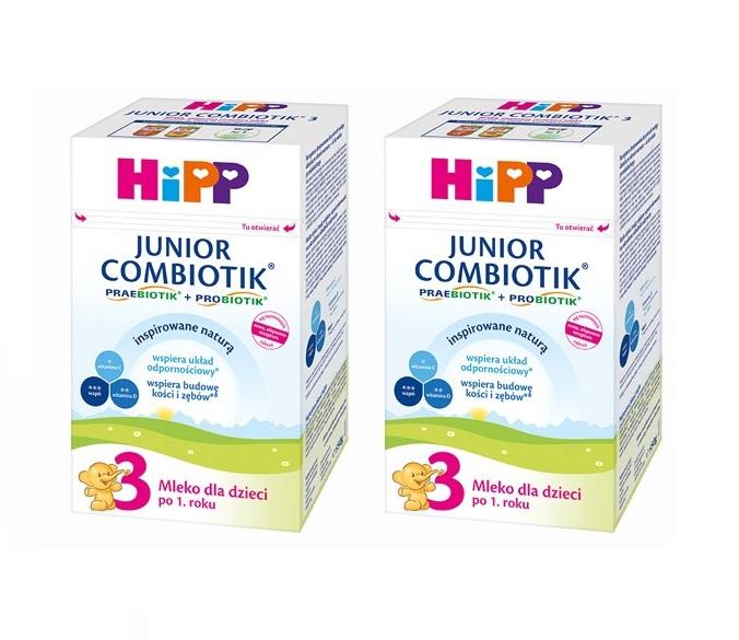 hipp mleko 3 2×550 bez znaczka