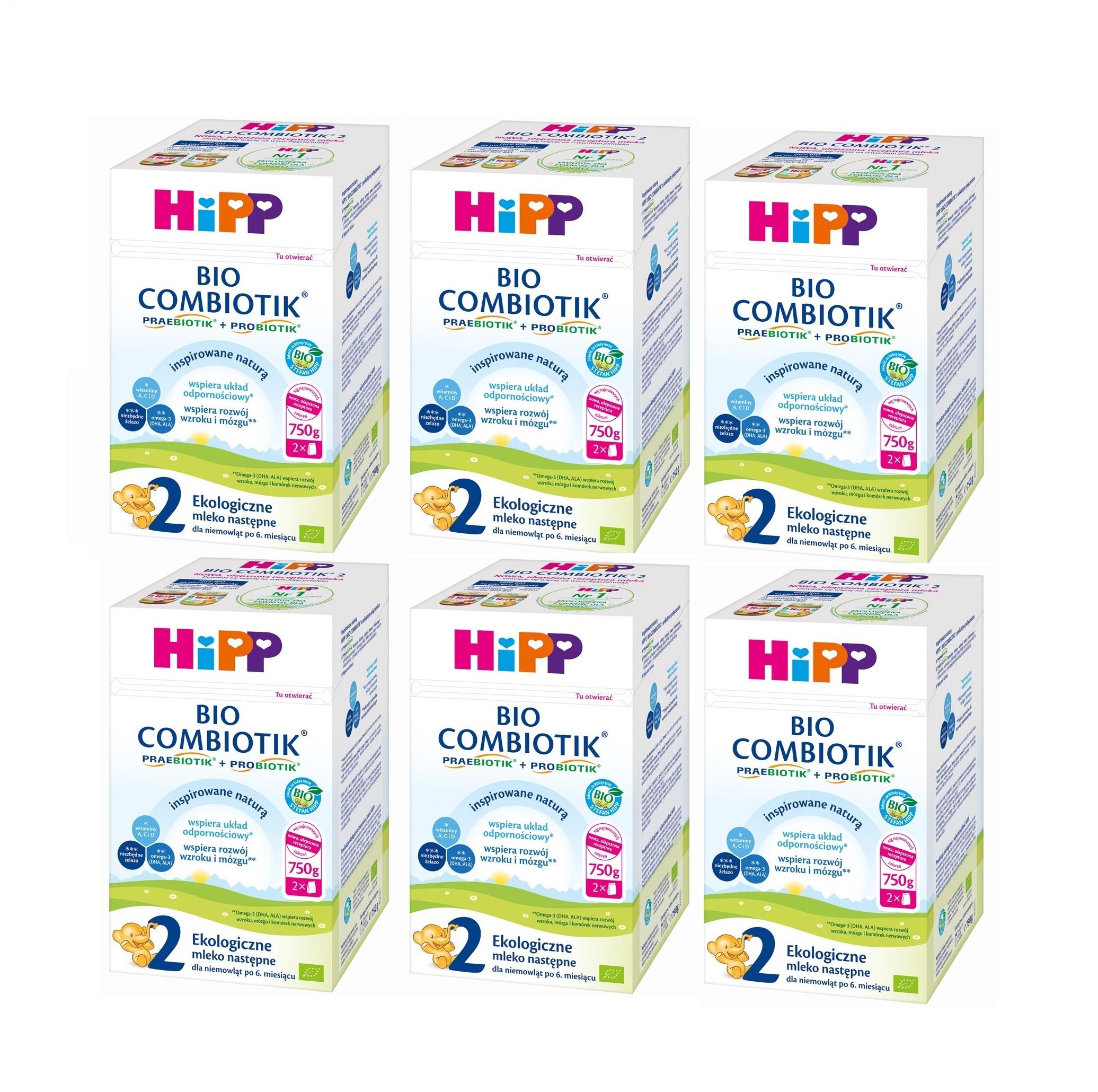 mleko 2 6x_750g hipp bez znaczka
